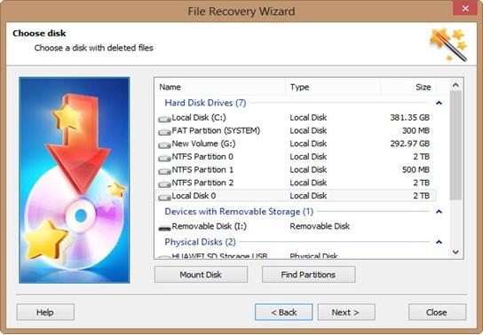 choose disk