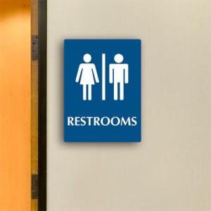 restroom pictogram