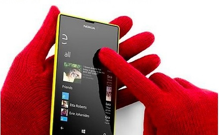Nokia use gloves