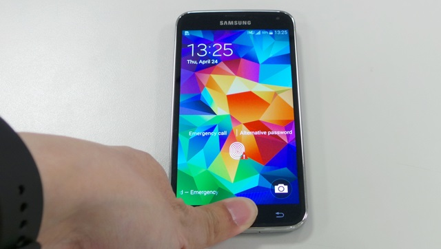 Samsung fingerprint scanner