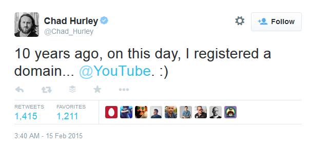 chad hurley youtube at 10