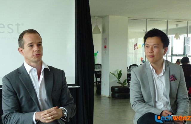 Nest's COO Lawrence Morgan(left) and Aaron Fu, Managing Partner for Africa