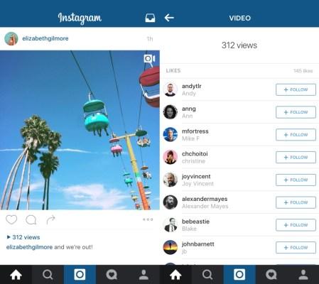 Instagram view count screenshot
