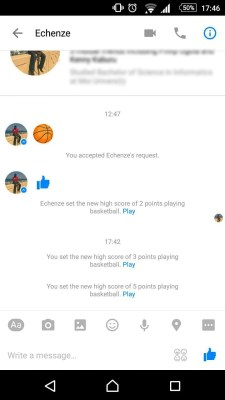 basketball game on messenger