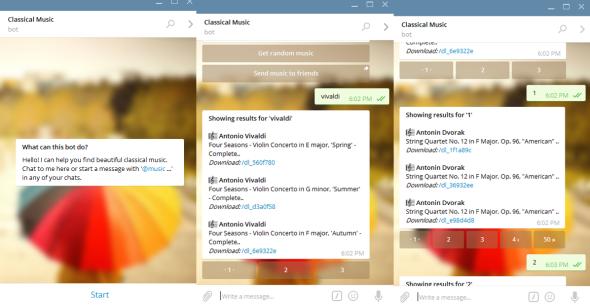 classical music bot menu
