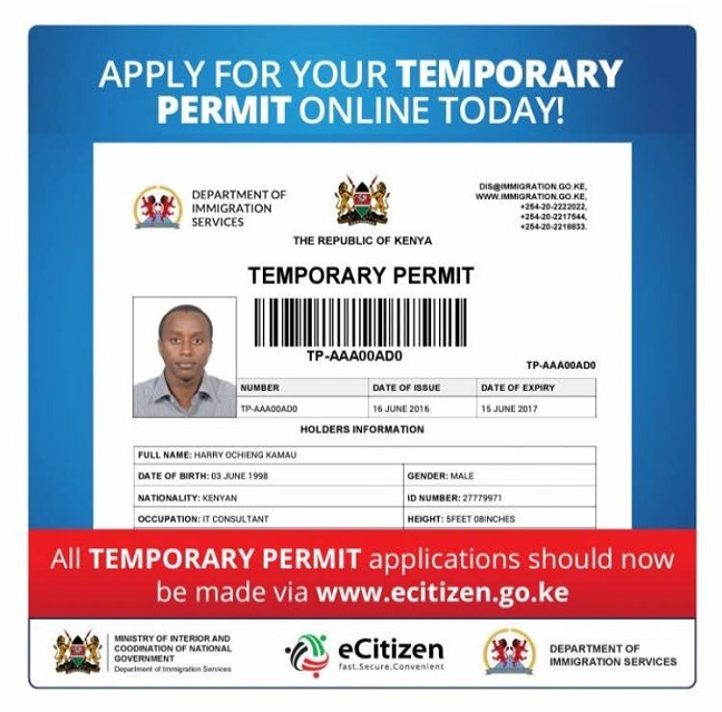 Kenyans To Apply For Temporary Travel Permits Online