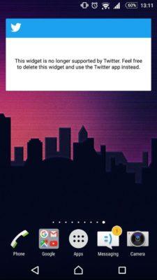 Twitter drops widget support