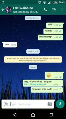 telegram link on whatsapp