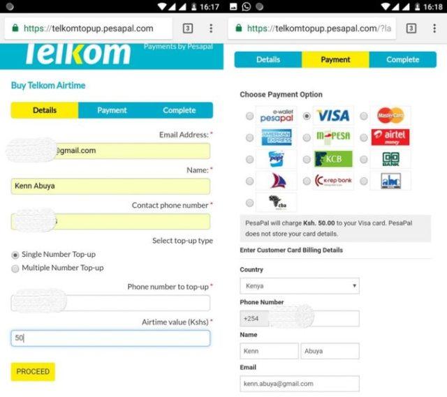 My Telkom Online Top Up