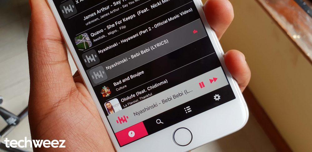Songa iOS Music Playing