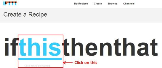 ifttt tutorial on recieving free sms