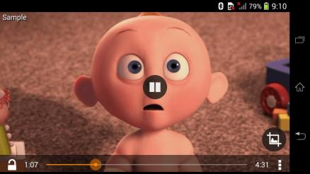 VLC android sample video