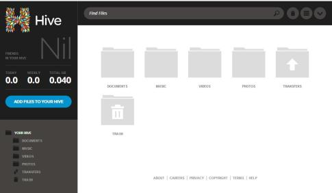 dashboard for files