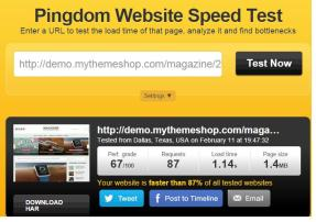 mythemeshop pingdom speed test