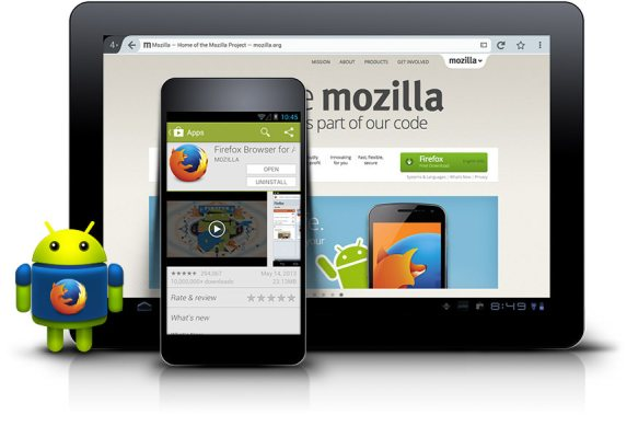 Mozilla firefox android mobile image