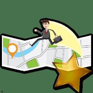 man running map