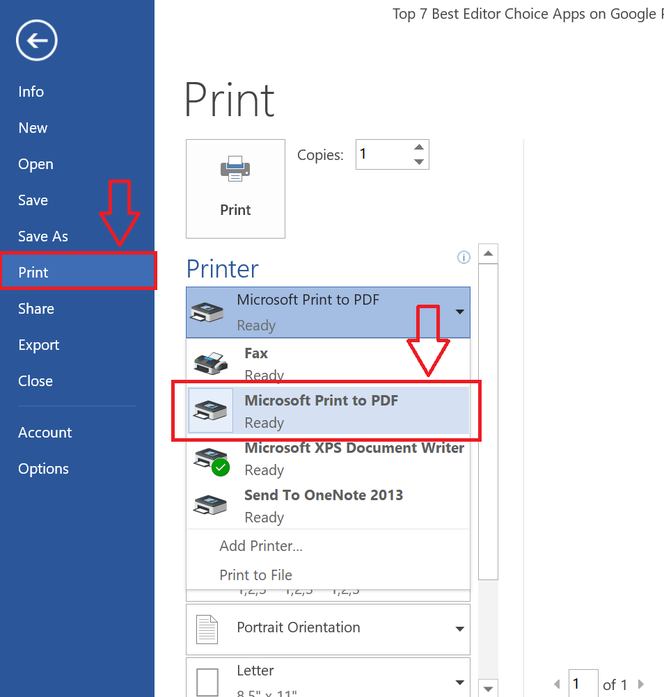Convert Word File DOCX or DOC File To PDF Without Any