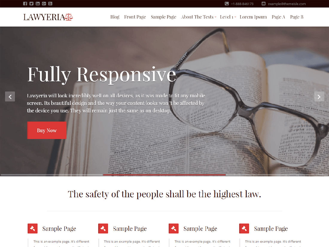 LawyeriaX Lite WordPress Theme for Law Websites