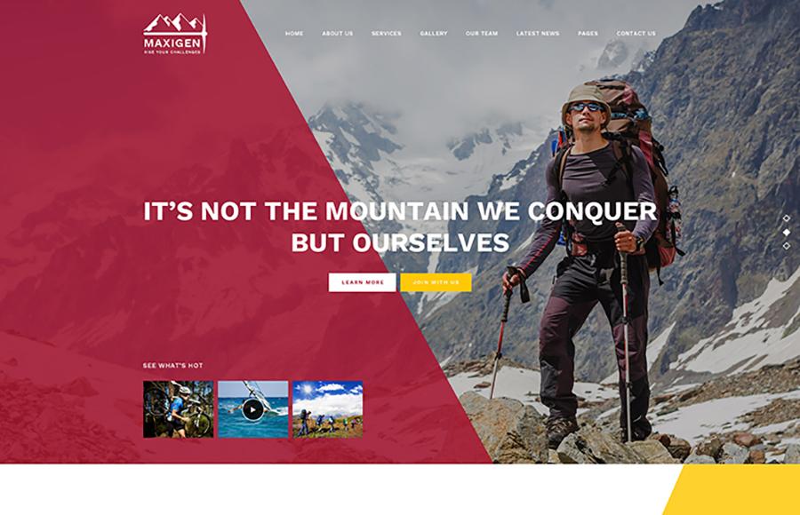 Maxigen - Hiking WordPress Theme