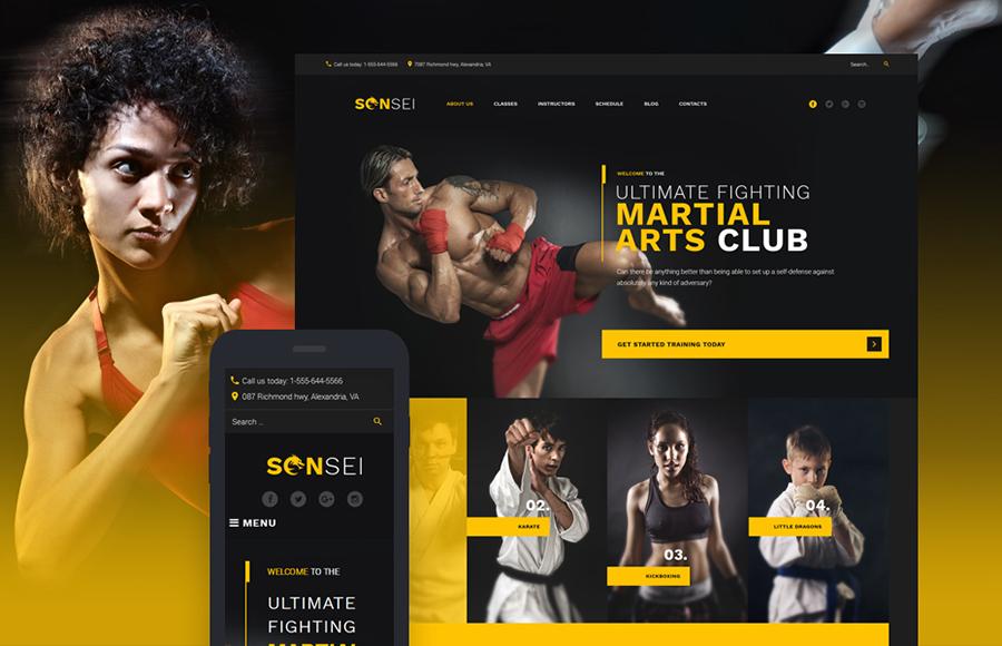 MMA WordPress Theme