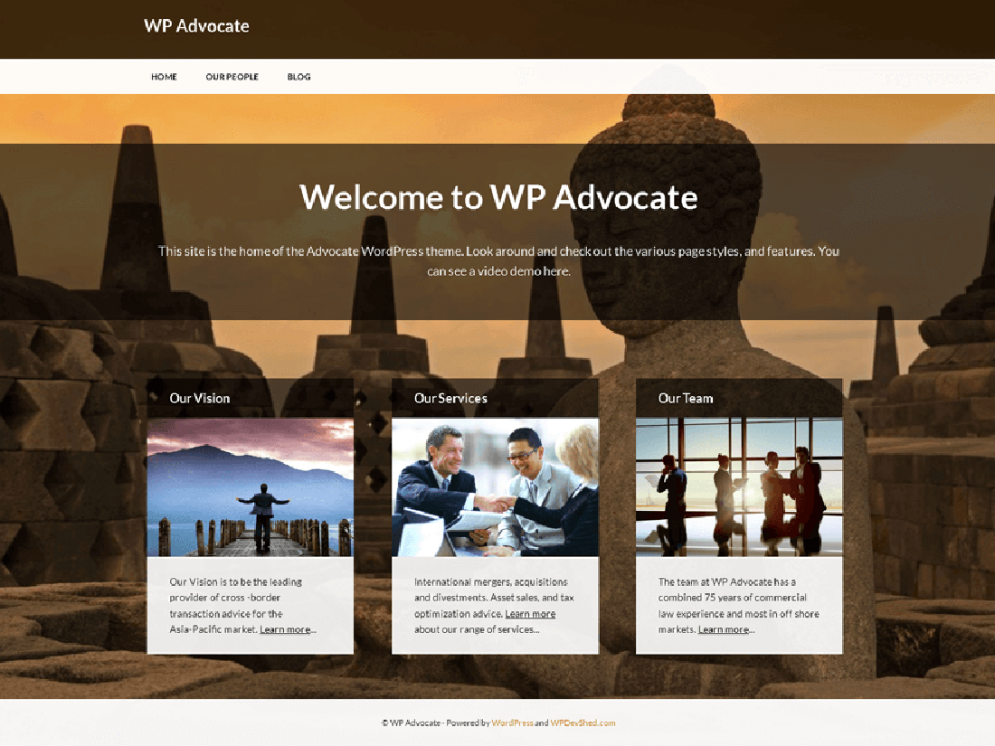 WP Advocate WordPress Theme for Law Websites