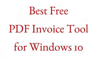 pdf invoice or bill