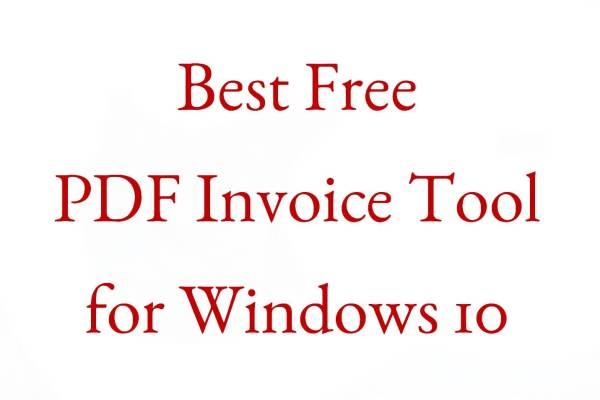 pdf invoice or bill