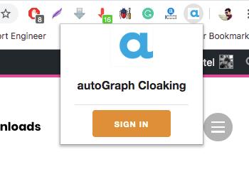 AutoGraph Cloaking for Chrome
