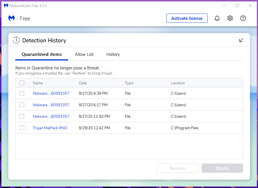 Windows Threats