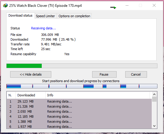 Seedr Download Speed in IDM
