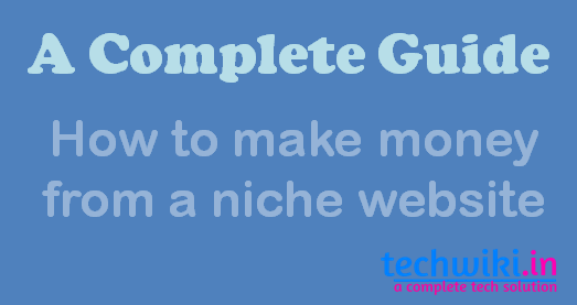 make money from niche site