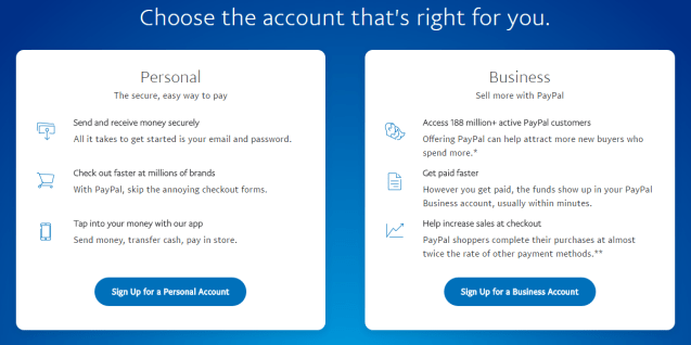 how to make a paypal account