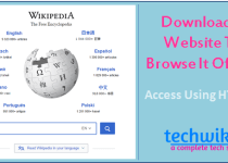 Download a website to access it offline