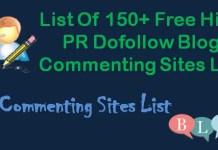 Dofollow Blog Commenting Sites List