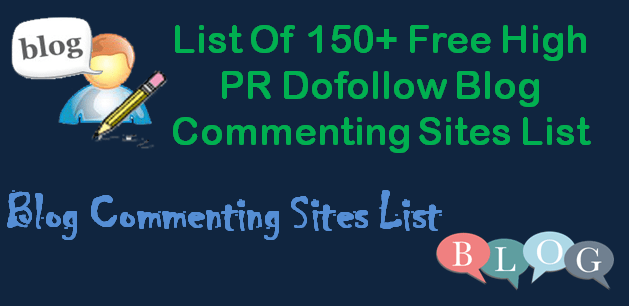 Dofollow Blog Commenting Sites List