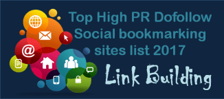 Top High PR Dofollow Social bookmarking sites list 2017