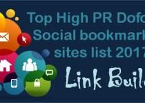 Dofollow Social bookmarking sites list 2017