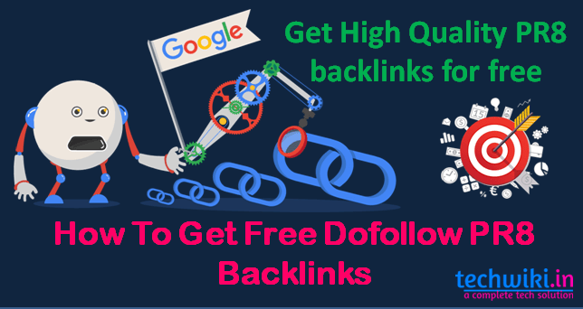 Get high quality PR8 Backlinks - techwiki