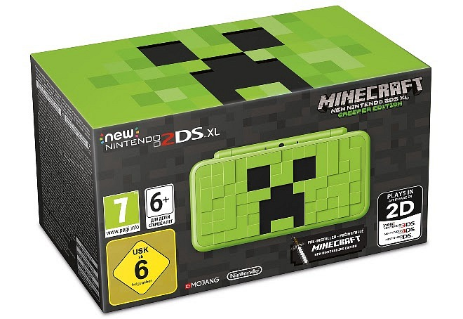 Nintendo Presents New Nintendo 2DS XL Based on Minecraft
