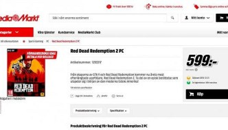 Red Dead Redemption 2 for PC Appears Listed in a Store