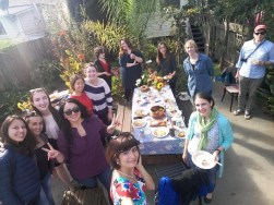 Cultural Mentors host a potluck with 2015 participants of Central Asia.