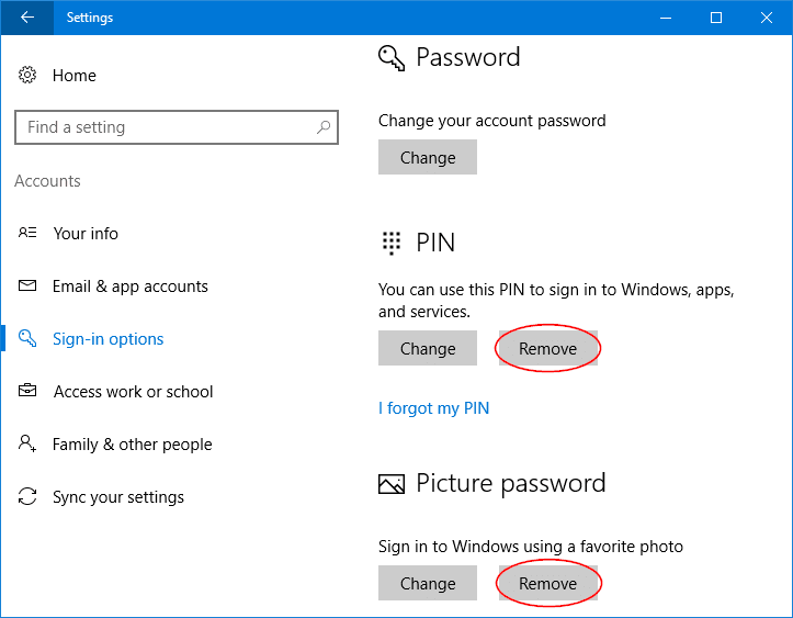 What to Do If You Forgot PIN or Picture Password?