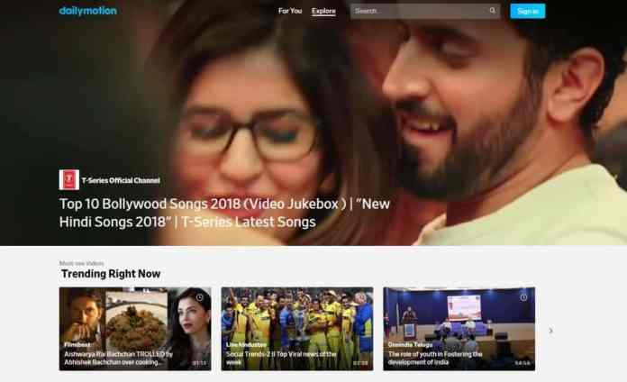 dailymotion - youtube alternative
