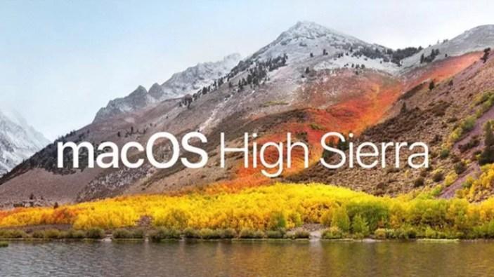 Version 10.13 High Sierra