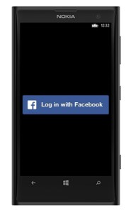 Windows phone 8 FB login