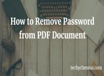 How to Remove Password from PDF document