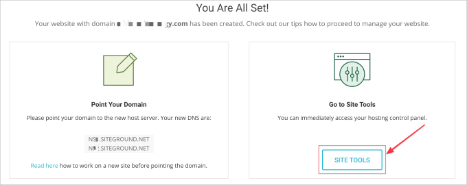 how to connect a godaddy domain to Siteground