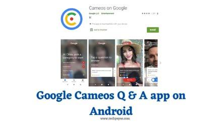 google cameos qna app