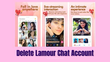 Delete Lamour Chat Account