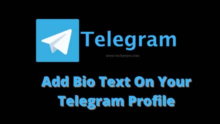 Add Bio Text On Your Telegram Profile